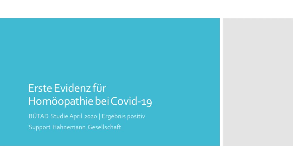 Evidenz für Homöopathie bei Covid-19