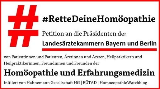 Postkartenaktion #RetteDeineHomöopathie-Zusatzbezeichnung